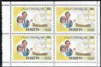 St Kitts SG82a 1981 Royal Wedding 4x55c booklet pane unmounted mint